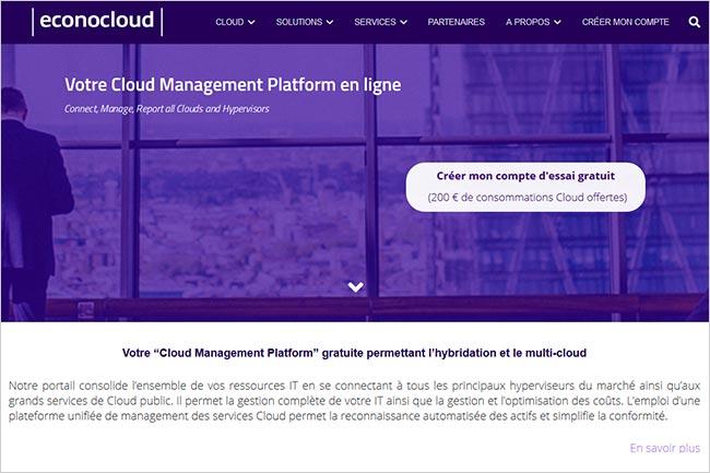 Lancement d'Econocloud, le cloud de confiance par Econocom